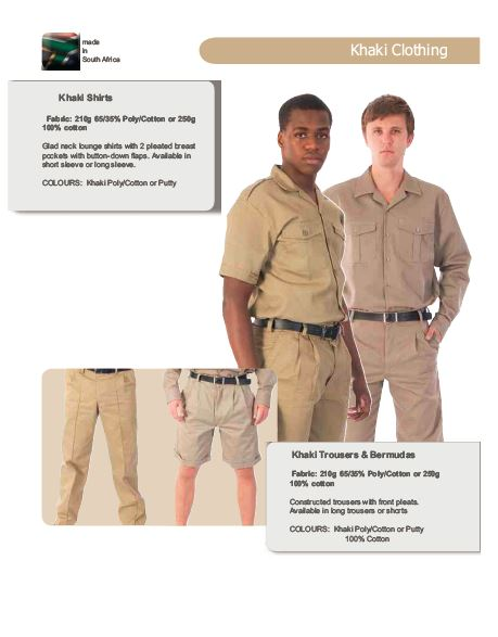 Khaki Clothing security products in  (South Africa)