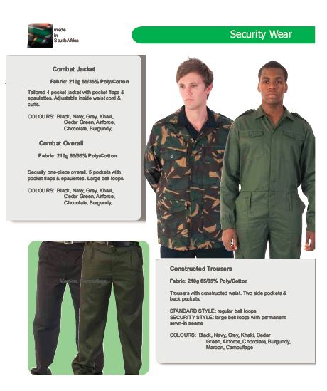Security Wear security products in  (South Africa)