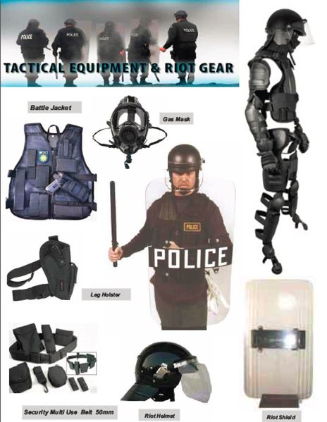 Tactical Wear security products in  (South Africa)