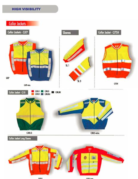 High Visibility Work Wear security products in  (South Africa)