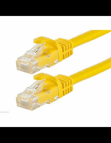 Acconet CAT6 UTP Flylead, 1 Meter, Straight, Stranded Cable, Moulded Boots and Plugs, Yellow security products in  (South Africa)
