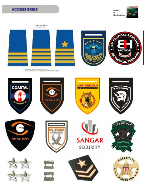 Badges/Insignias security products in  (South Africa)