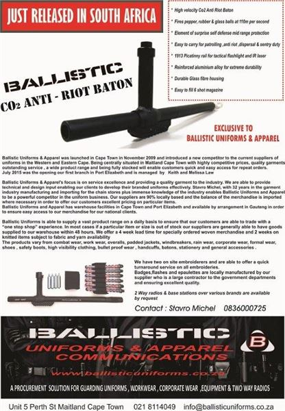 Ballistic Anti Riot Co2 Baton  security products in  (South Africa)