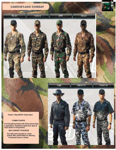Combat Clothing security products in  (South Africa)