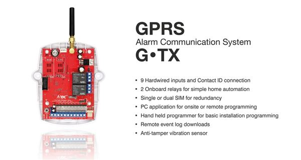 G.TX  - GPRS  Alarm Communcation System security products in  (South Africa)