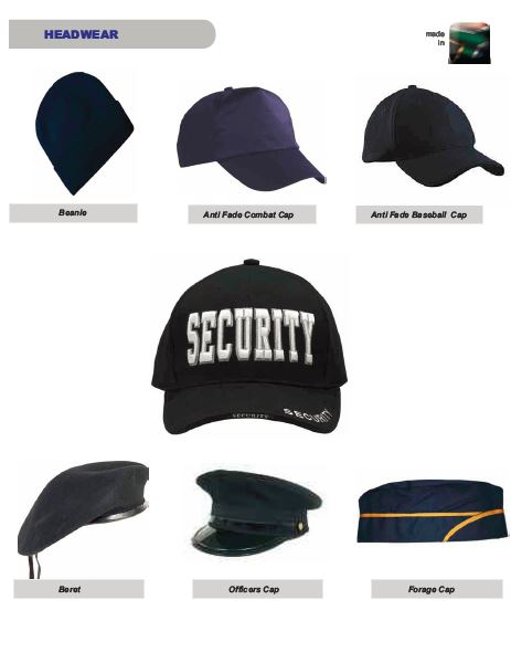 Headwear security products in  (South Africa)