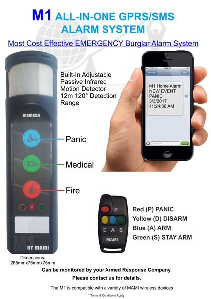 M1 GPRS Alarm System security products in  (South Africa)