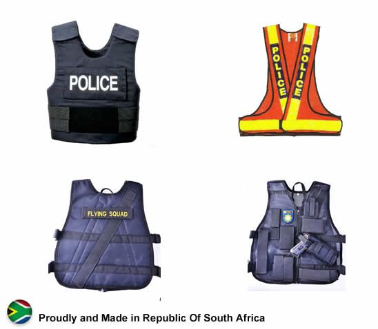 Police Armour security products in  (South Africa)